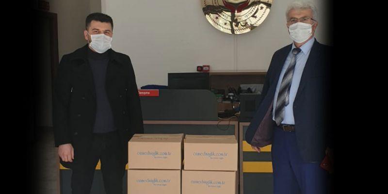 İZKANDER Başkanı Özkan'dan hijyen malzemesi desteği