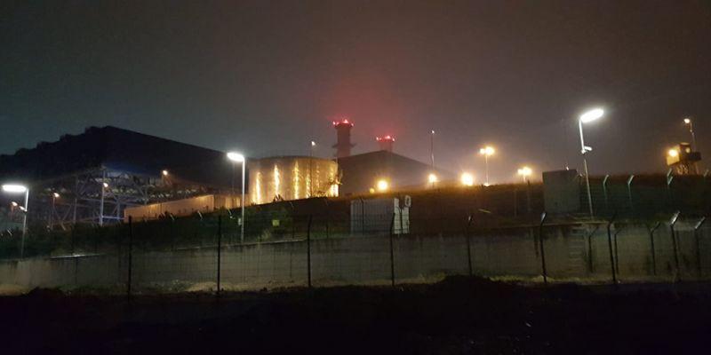 Doğalgaz santralindeki trafo patladı