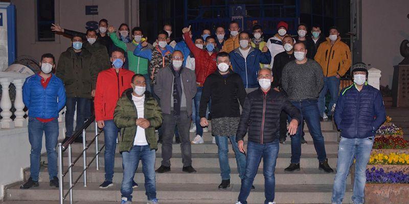Fransa dönüşü Kocaeli'de karantinaya alınan 31 işçi ailelerine kavuştu