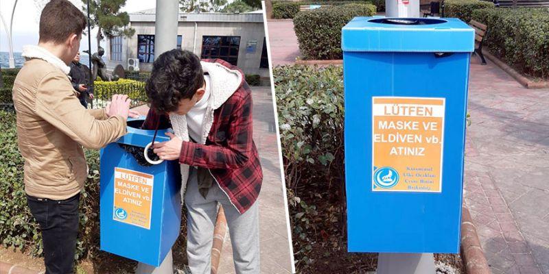 Ülkü Ocakları'ndan tıbbi atık çöp kutusu