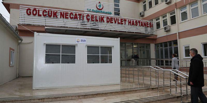 Gölcük Devlet Hastanesi'ne ön muayene konteyneri
