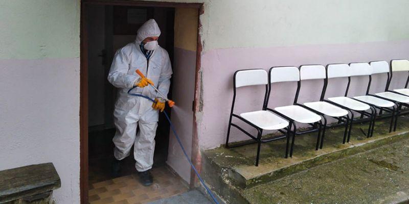 İzmit'in köylerinde koronavirüs temizliği