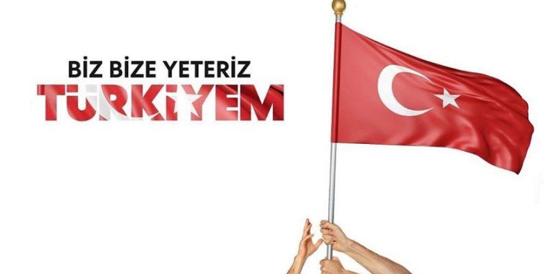 Büyükşehir bürokratları 'Biz Bize Yeteriz Türkiyem' dedi
