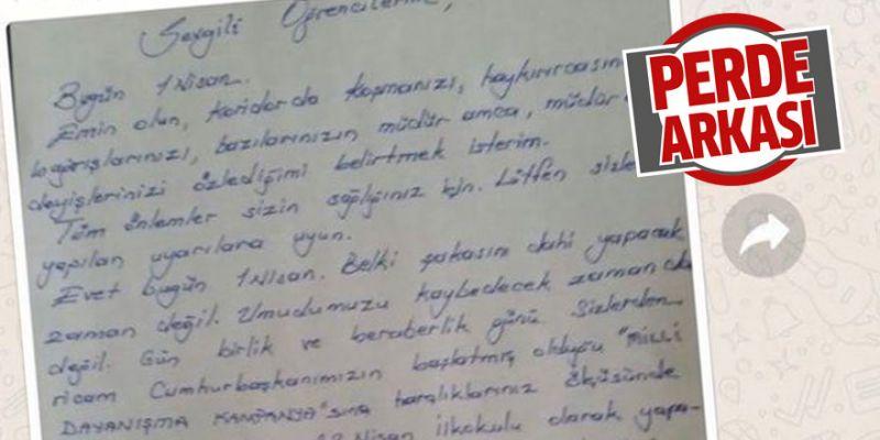 'Öğrencilerden kampanyaya yardım isteniyor' iddiası