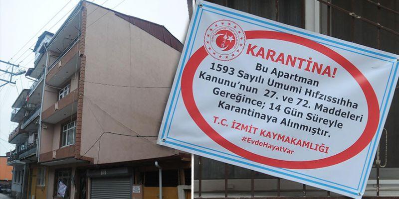 İzmit'teki 3 katlı bina karantinaya alındı!