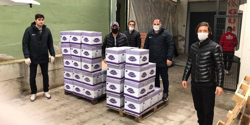 Belediye Derincespor'dan gıda yardımı