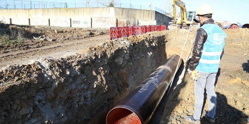 1300 mm çelik boru hattı tamamlandı