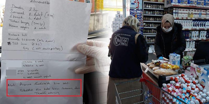Alışveriş listesinden ikram çıktı