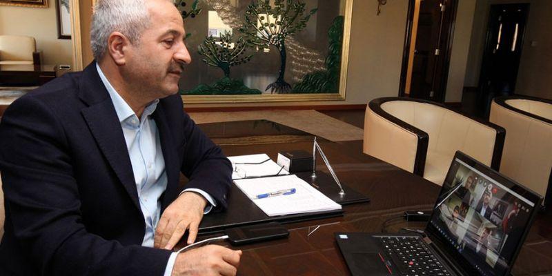Büyükgöz'e birim müdürlerinden online brifing