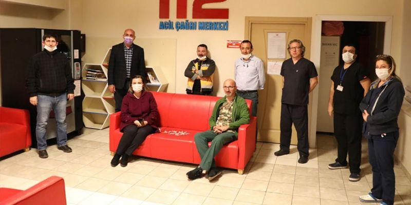 Hürriyet'ten 112 Acil ve Afet Koordinasyon Merkezine moral ziyareti