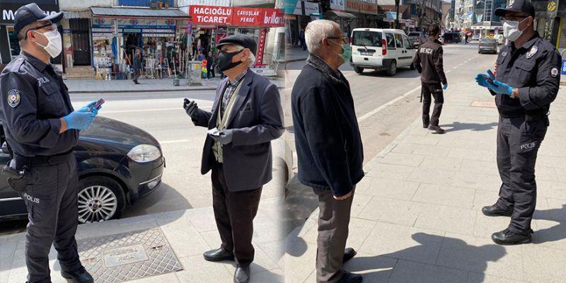 Yasağa uymayan yaşlılara polis uyarısı