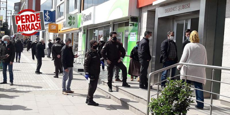 PTT ve bankalar önünde bekçilerle önlem alındı