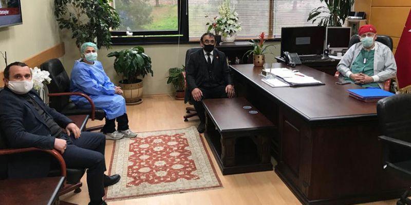 MHP İzmit'ten üniversite hastanesine ziyaret
