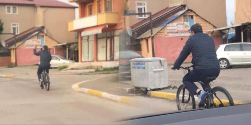 Bisikletiyle evine giden belediye başkanı