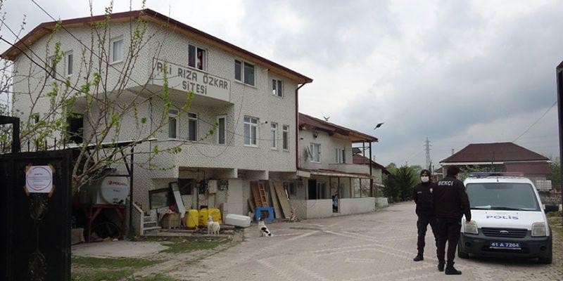 17 daireli site karantinaya alındı