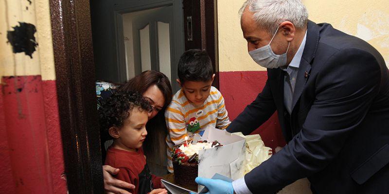 Başkandan otizmli Polat'a doğum günü sürprizi