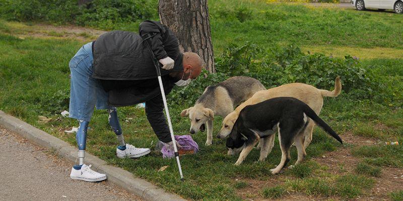 Sokak hayvanları için evde kalmadı