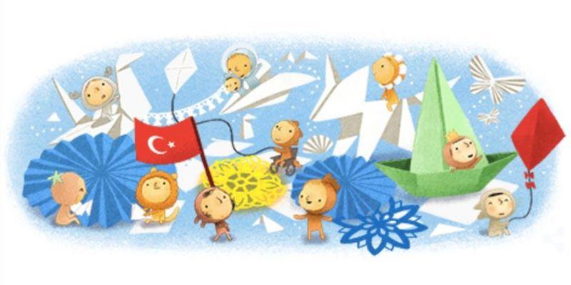 Google'dan 23 Nisan için özel logo