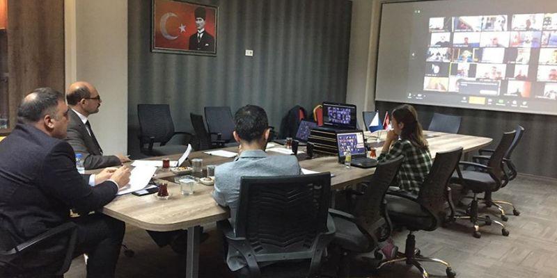 Körfez Ticaret Odası'nda telekonferanslı toplantı
