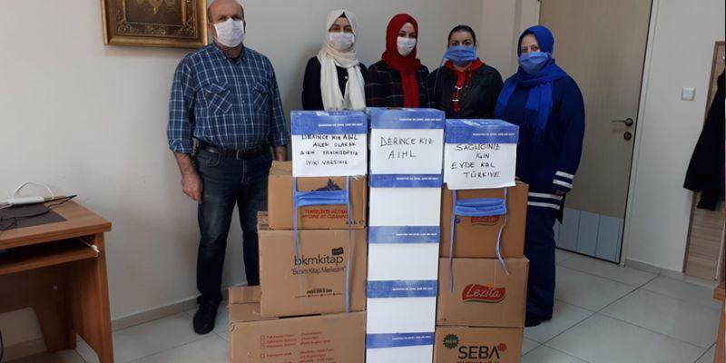Derince Kız Anadolu İHL'den sağlıkçılara maske