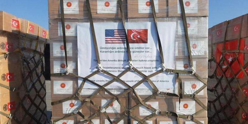 Türkiye'den ABD'ye yardım