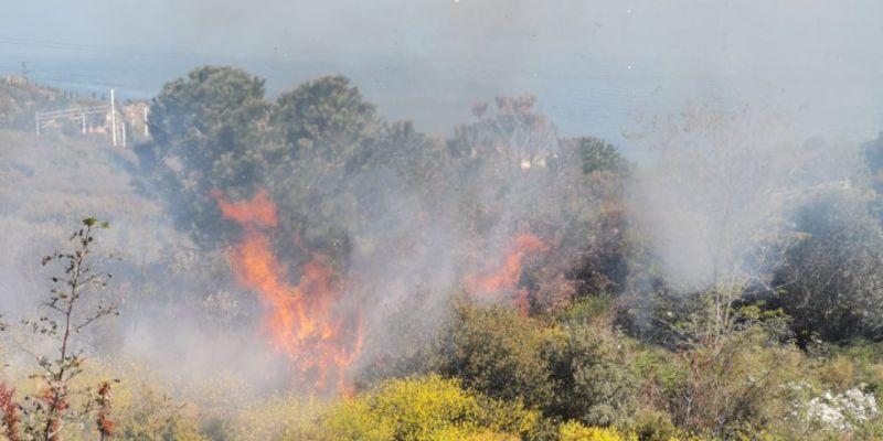 Makilik alanda çıkan yangın korkuttu