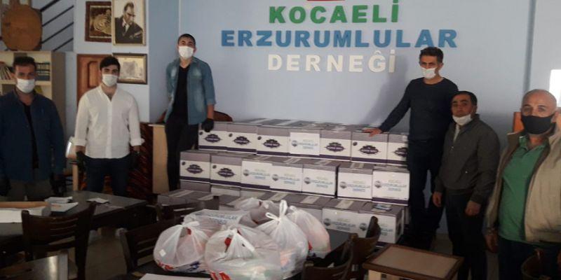 Erzurumlular'dan ihtiyaç sahiplerine kumanya yardımı