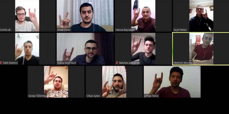Gölcüklü ülkücülerden video konferanslı toplantı