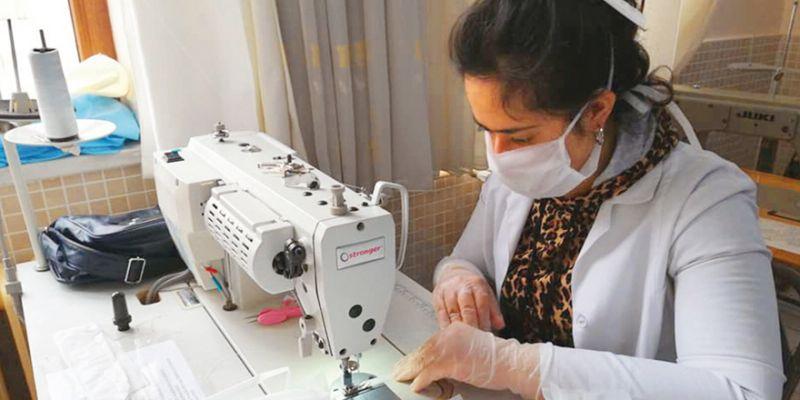 Kocaeli'deki okullarda 1 milyon maske üretildi
