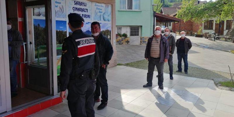 Jandarma'dan korona denetimi! 23 kişiye para cezası...