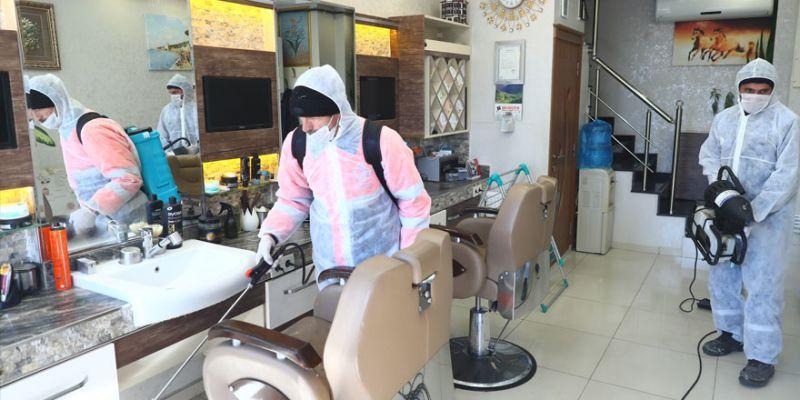 Kuaför ve berberler ücretsiz dezenfekte edilecek