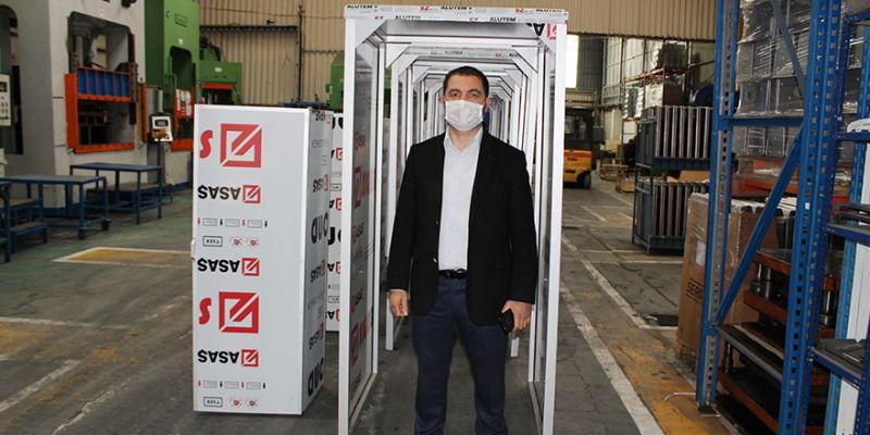 Ürettiği dezenfeksiyon kabinini 20 ülkeye ihraç ediyor