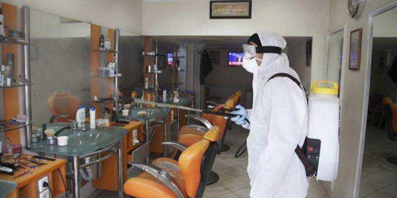 Kuaför ve berberlere ücretsiz dezenfekte
