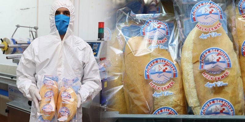 Körfez'de halk ekmek poşete girdi
