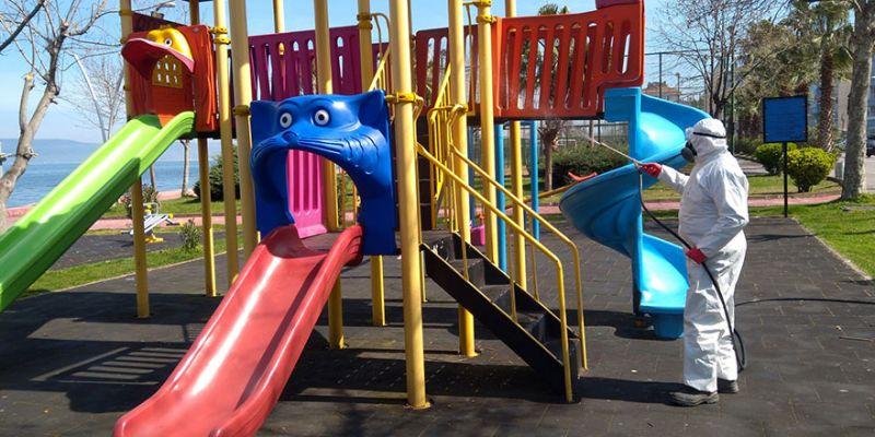Çocuk ve gençler için Kocaeli'deki parklar dezenfekte edilecek