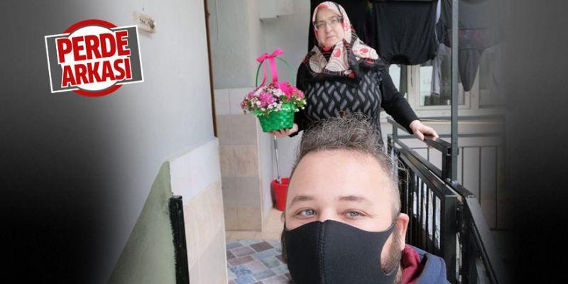 Şehit annelerine çiçekli sürpriz