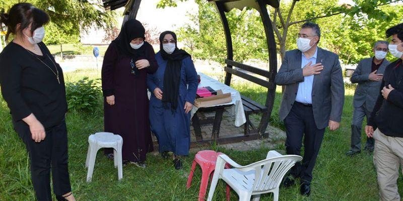 Tipioğlu'ndan şehit Topaloğlu'nun ailesine anlamlı ziyaret