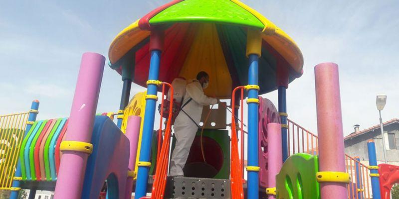 Parklar çocuklar için hazırlandı
