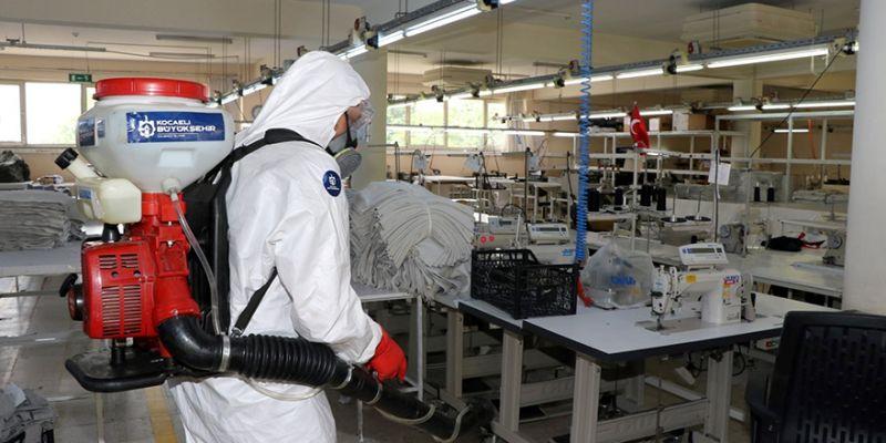 Kocaeli'de dezenfekte çalışmaları tam gaz