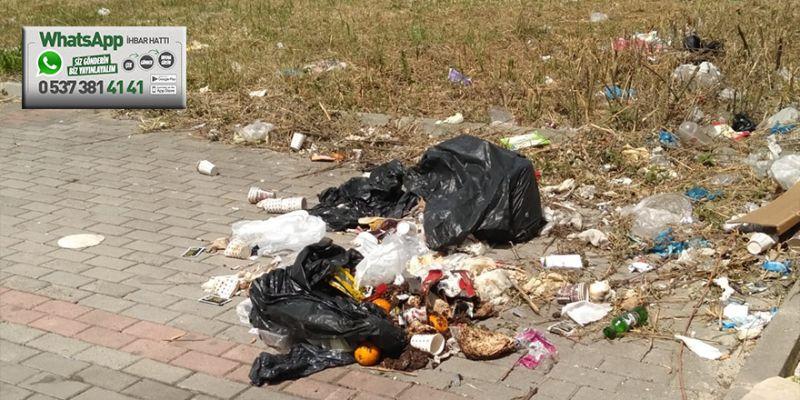 Çöpler etrafa yayılıyor