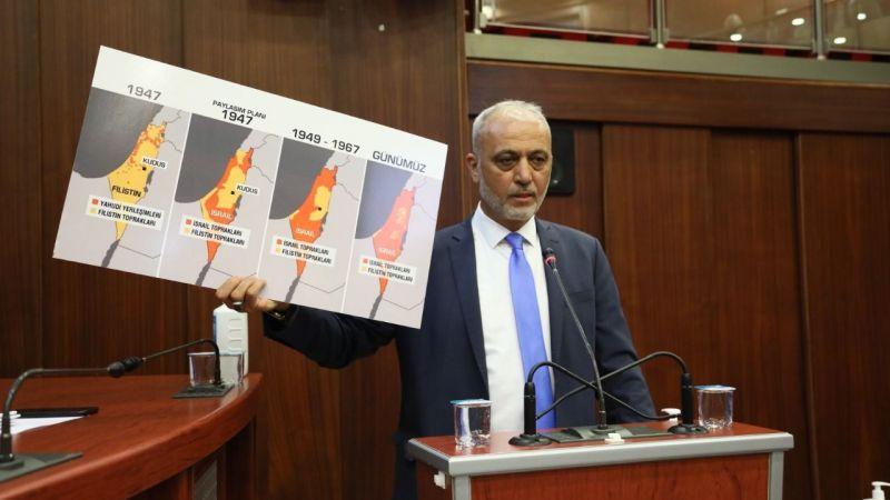 İzmit meclisinden Filistin'e tam destek