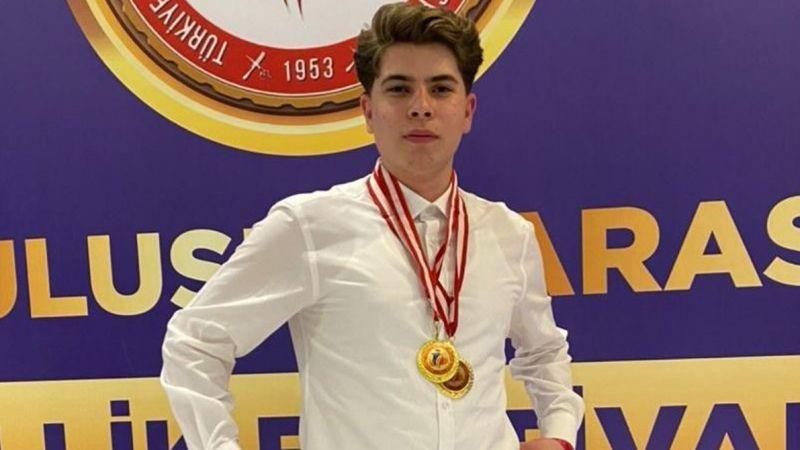En genç yarışmacı olduğu festivalden madalya ile döndü
