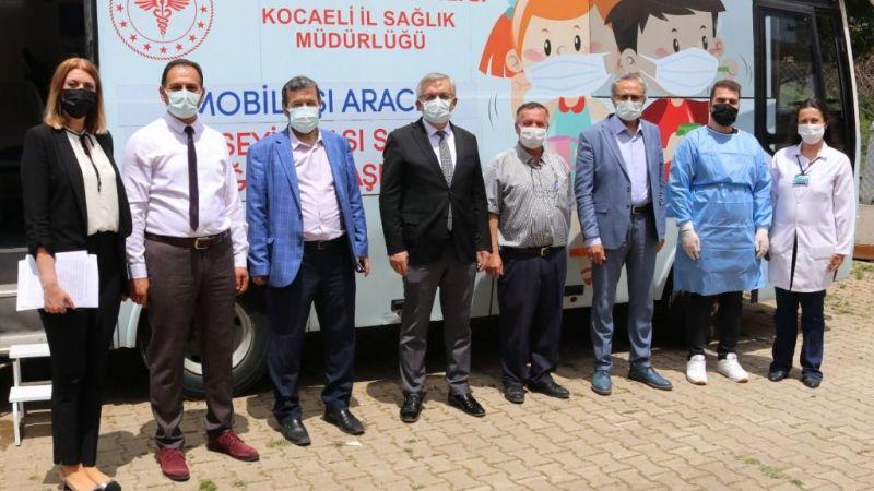 Kocaeli'de mobil ekipler binlerce kişiyi aşıladı