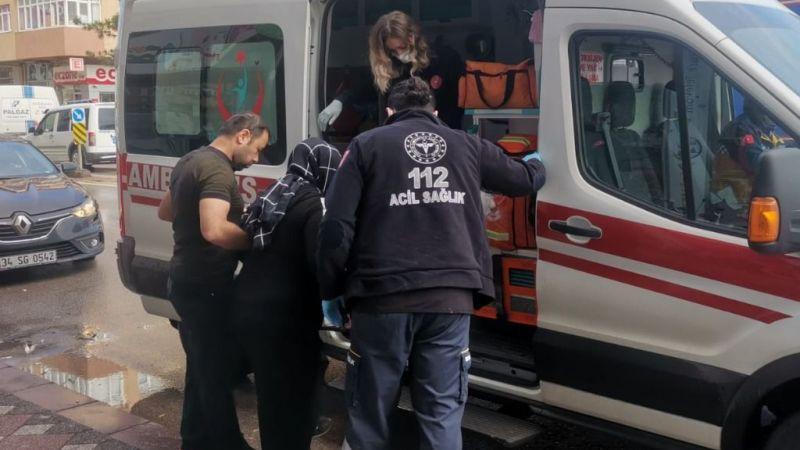 Otobüsün çarptığı otomobildeki hamile kadın yaralandı