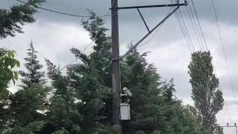 Kargalar MOBESE kablolarını yaktı