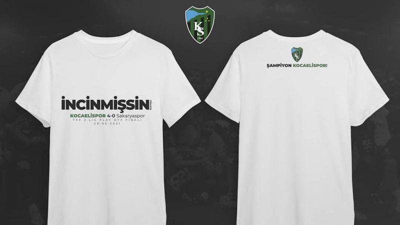 Kocaelispor'dan Sakaryaspor'a tişörtlü gönderme