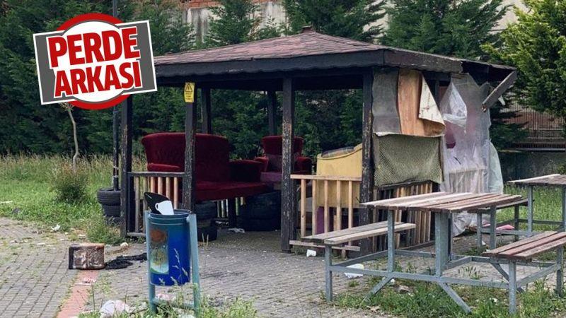 İzmit'teki park mülteci kampına döndü!