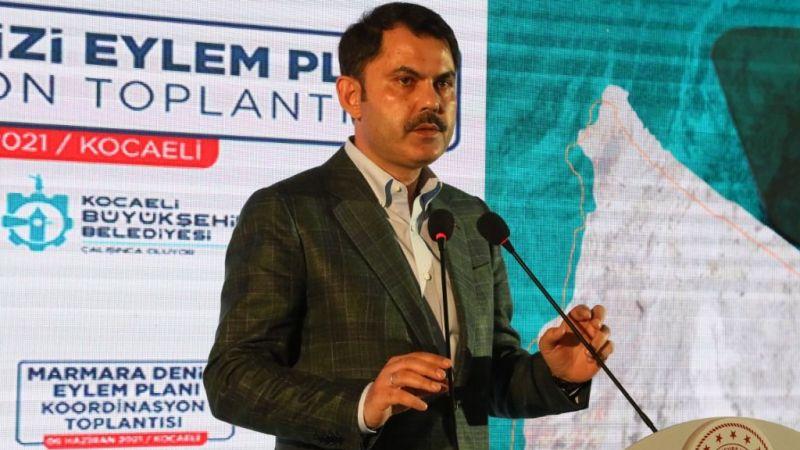 Bakan Kurum: 22 maddeyle 10 yılda Marmara'yı temizleyeceğiz