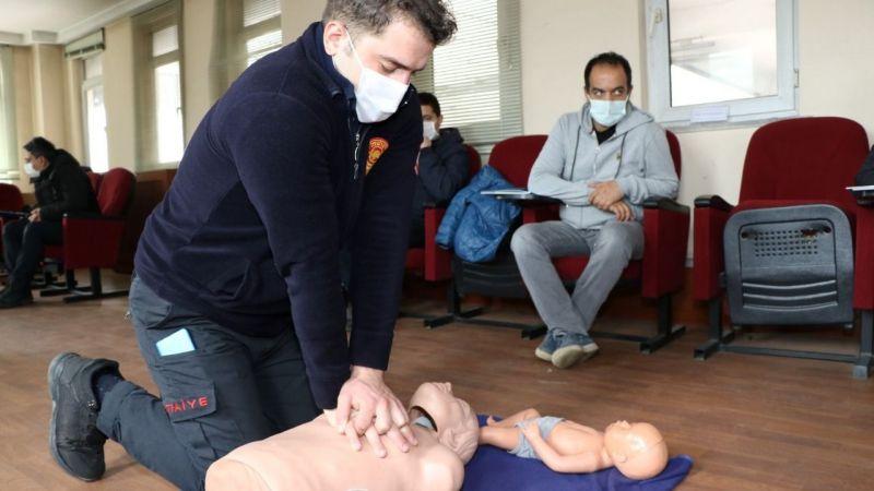 İtfaiye personeline güncel temel ilkyardım eğitimi