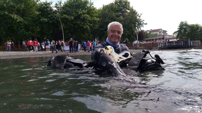 Müsilaj temizliği seferberliğine dalış sporcuları da katıldı
